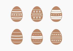 Raccolta di vettore dell'uovo di Pasqua del cioccolato