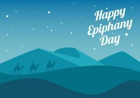 Vettore felice libero del fondo di giorno di epifania