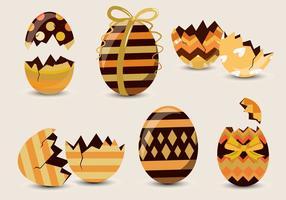 Vettore del modello dell'uovo di Pasqua del cioccolato