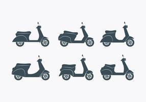 set di icone di lambretta vettore