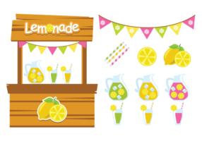 Vettori di stand di limonata carini