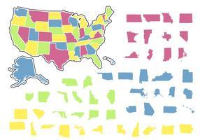 Colore Stato contorno vettore