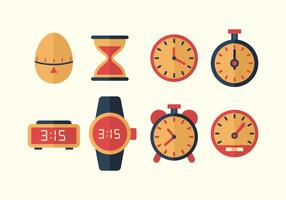 Icone vettoriali tempo