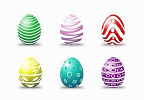 Vettori felici dell'uovo di Pasqua