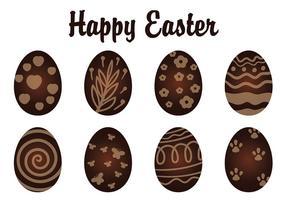 Uova di Pasqua al cioccolato vettore