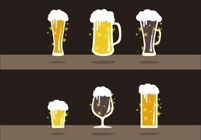 Vettore dell'illustrazione di sapori della birra di Cerveja