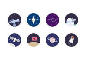 Icona dello spazio esterno vettore