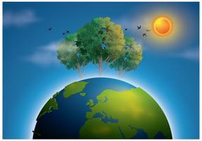 Vettore gratis dell'illustrazione della terra