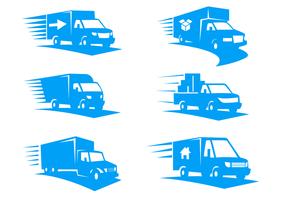 spostamento logo vettoriale furgone