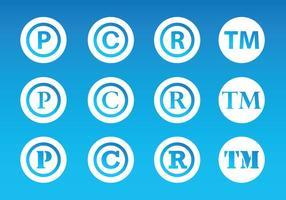 Simbolo del copyright vettore