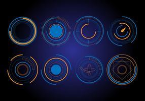 Elementi vettoriali di cerchio HUD gratis