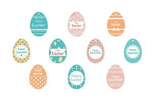 Vettore libero dell'etichetta del regalo di Pasqua