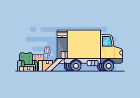 Illustrazione di Van in movimento vettore