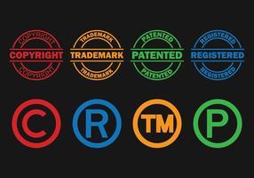 Set di simboli di simbolo del copyright