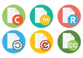 Icone di vettore del copyright