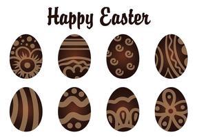 Uova di Pasqua decorative al cioccolato vettore