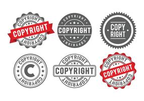 Badge timbro di copyright vettore