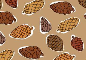 Modello di coni di pino marrone tavolozza
