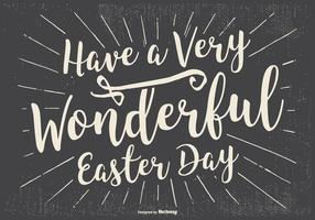 Illustrazione tipografica di Pasqua felice vettore