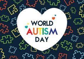 poster di autismo giorno vettore