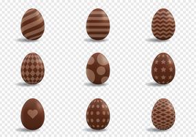 Decorazione di uova di cioccolato