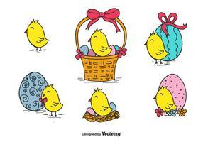 Vettore di Pasqua pulcino