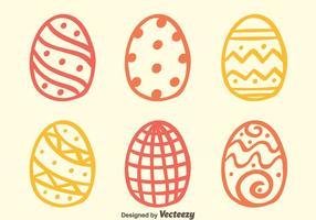 Schizzi i vettori delle uova di Pasqua