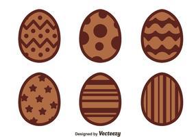 Vettori di uova di Pasqua al cioccolato