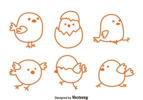 Disegna i vettori del pulcino di Pasqua