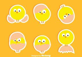 Bei vettori di Easter Chick