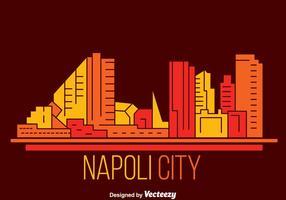 Vettore di Skyline della città di Napoli