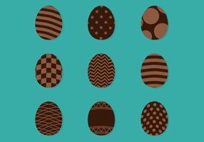 Uova di cioccolato decorate vettore