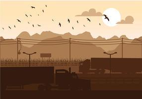 Camion Silhouette vettoriali gratis