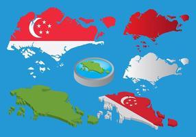 Vettori di mappe di Singapore gratis