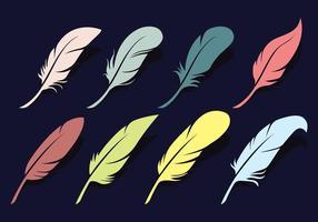 Set di icone vettoriali Pluma