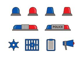 Luci della polizia e oggetti vettoriali gratis