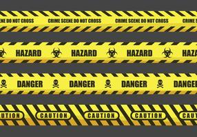 Illustrazioni di nastro di avvertenza e pericolo
