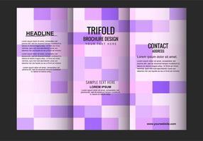 Brochure pieghevole Tri vettoriali gratis