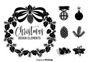 Elementi di disegno vettoriale di Natale