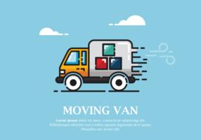 Spostamento di Van Vector Illustration