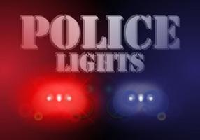 Vettore del fondo delle luci della polizia