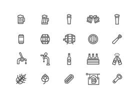 Vettori minimalisti di birra e cerveja
