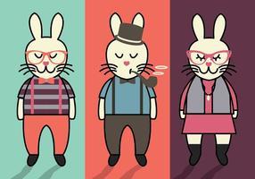 Vettori di Pasqua coniglietto Hipster
