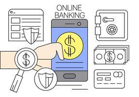 Illustrazione di vettore di attività bancarie online gratuito