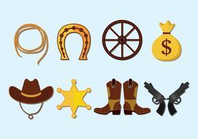 Set di icone vettoriali Gaucho