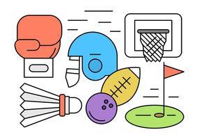 Insieme di vettore di diversi elementi sportivi
