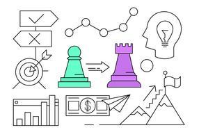 Elementi vettoriali gratis sulla crescita aziendale