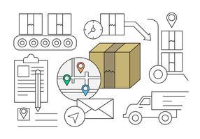 Elementi vettoriali di consegna gratuita