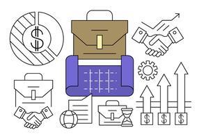 Icone del piano aziendale lineare