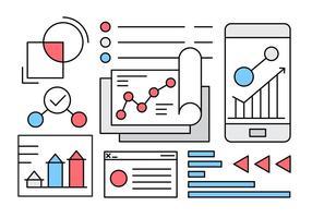 Elementi vettoriali gratis di affari infografica